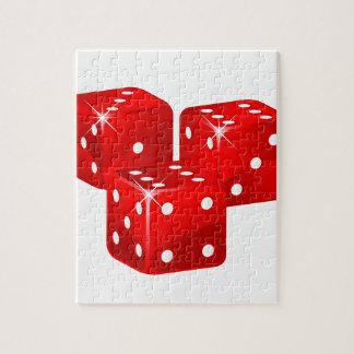 赤いサイコロ ジグソーパズル