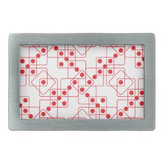 赤いサイコロ 長方形ベルトバックル