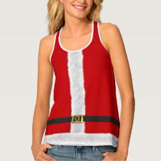 赤いサンタXmas Holiday Custom夫人のお祝いのタンクトップ タンクトップ