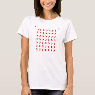 赤いシェブロン Tシャツ