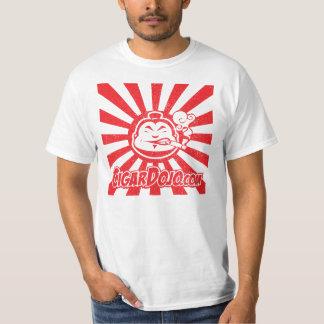 赤いシガーの道場のロゴ Tシャツ
