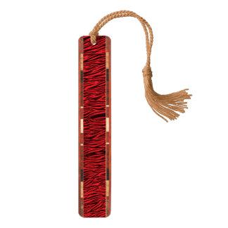 赤いシマウマのアニマルプリントのしおり ブックマーク