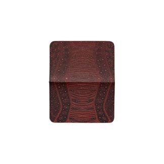 赤いシマウマのグリッターの抽象芸術 名刺入れ