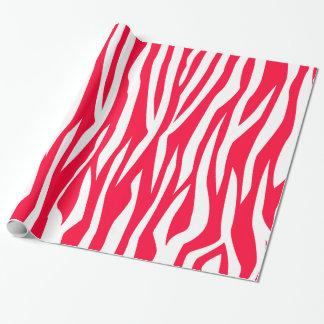 赤いシマウマのプリント ラッピングペーパー