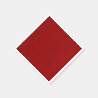 赤いシャクヤクの相場師のビロードのカスタムな家のカジノ スタンダードカクテルナプキン