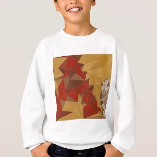 赤いショウガの抽象芸術の低い多角形の背景 スウェットシャツ