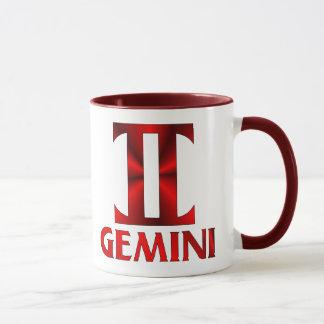 赤いジェミニ占星術の記号 マグカップ