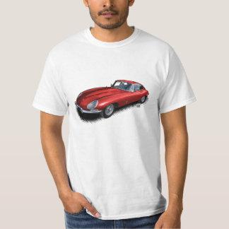 赤いジャガーXKEのヴィンテージのスポーツ・カーのTシャツ Tシャツ