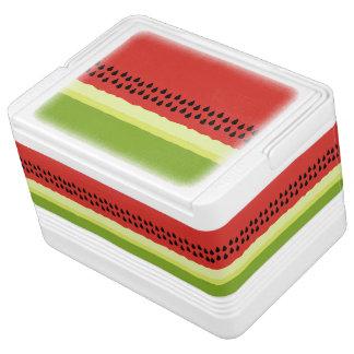 赤いスイカの切れのイグルーのクーラーボックス IGLOOクーラーボックス