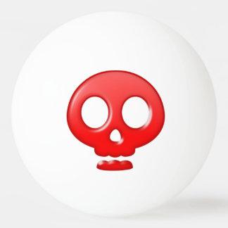 赤いスカルのピンポン球 卓球ボール