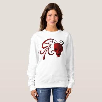 赤いスカルの抽象芸術 スウェットシャツ