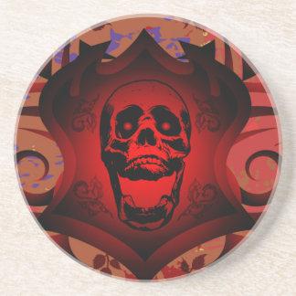 赤いスカルの盾 コースター
