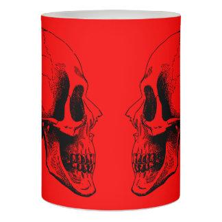 赤いスカルのFlameless蝋燭 LEDキャンドル
