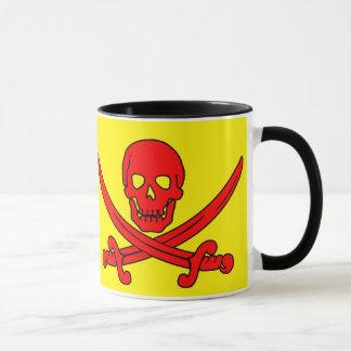 赤いスカル及び剣の海賊マグ マグカップ