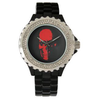 赤いスカル 腕時計