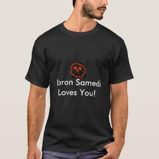 赤いスカル: Samedi Loves男爵! Tシャツ