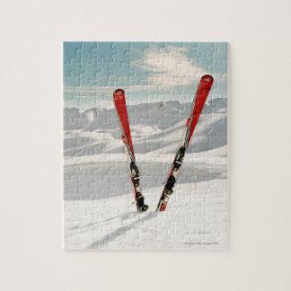 赤いスキー ジグソーパズル
