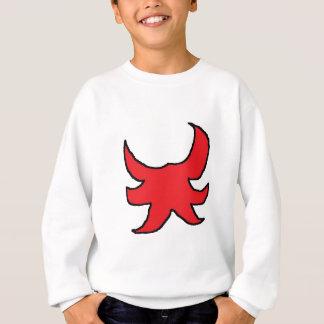 赤いスケッチ スウェットシャツ