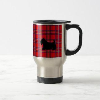 赤いスコットランドテリアのコーヒータンブラーのギフト トラベルマグ