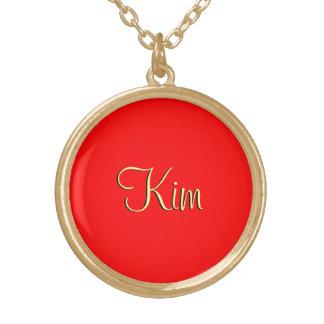 赤いスタイルの金の付属品 ゴールドプレートネックレス