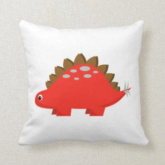 赤いステゴサウルスの枕 クッション