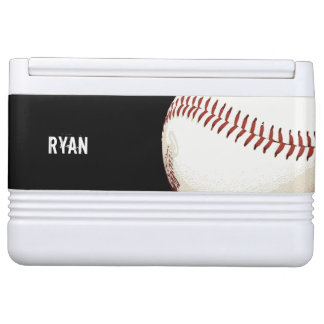 赤いステッチの野球の球 IGLOO クーラーボックス