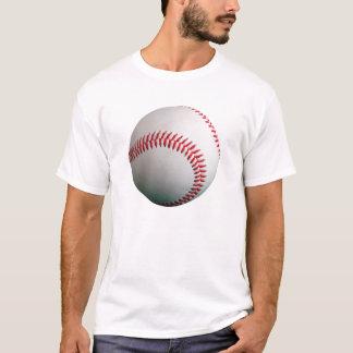 赤いステッチの野球 Tシャツ