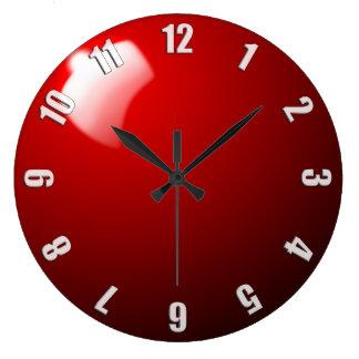 赤いスヌーカーの状況の時計のデザイン ラージ壁時計