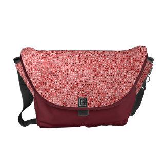 赤いスパンコールの効果の人力車のメッセンジャーバッグ メッセンジャーバッグ