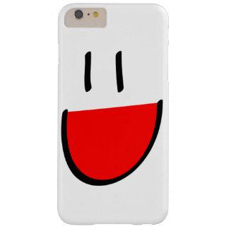 赤いスマイリーフェイスのiPhone 6のプラスの場合 Barely There iPhone 6 Plus ケース