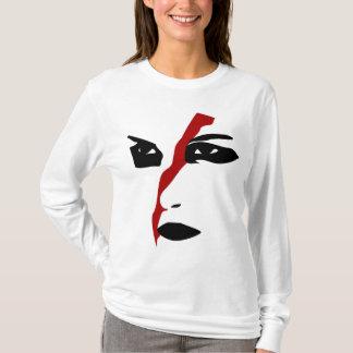 赤いスラッシュの強いfacepaint tシャツ