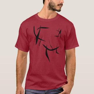 赤いスラッシュ Tシャツ