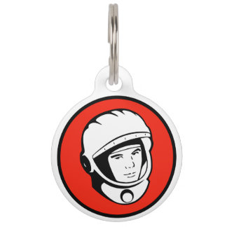 赤いソビエト宇宙飛行士のペットタグ ペット ネームタグ