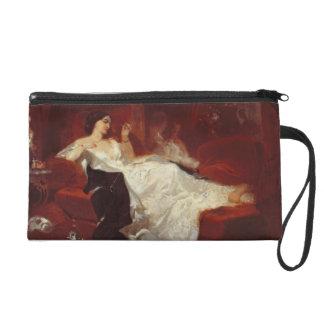 赤いソファーの女性 リストレット