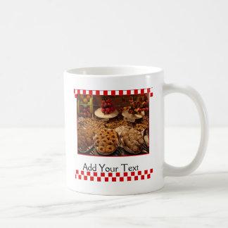 赤いタイルのデザート コーヒーマグカップ