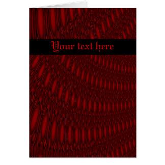 赤いタコの触手のカスタムな挨拶状 カード