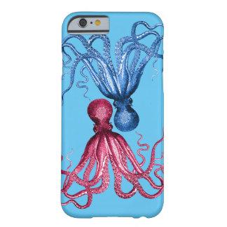 赤いタコの青のタコ BARELY THERE iPhone 6 ケース