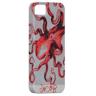 赤いタコのiphone iPhone SE/5/5s ケース
