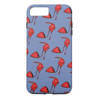 赤いタンゴの靴の電話箱 iPhone 8 PLUS/7 PLUSケース