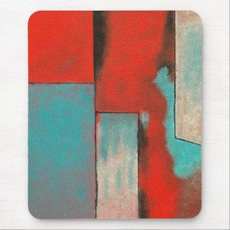 赤いターコイズを絵を描く抽象的な表現主義者の芸術 マウスパッド