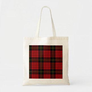 赤いタータンチェックの予算のトート トートバッグ