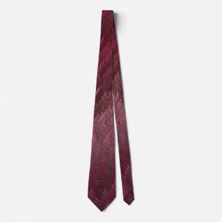 赤いタータンチェックの羽パターンタイ ネクタイ