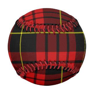 赤いタータンチェックの野球 ベースボール
