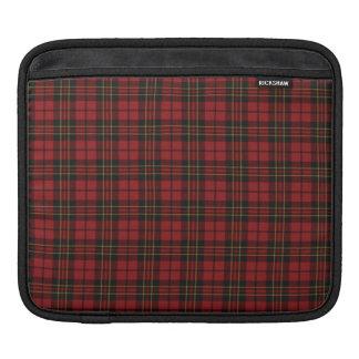 赤いタータンチェック iPadスリーブ