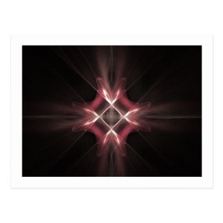 赤いダイヤモンドライトフラクタルの芸術 ポストカード