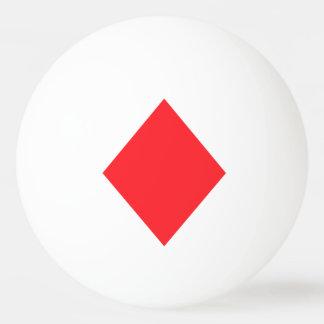 赤いダイヤモンド-賭博カードのスーツ 卓球ボール