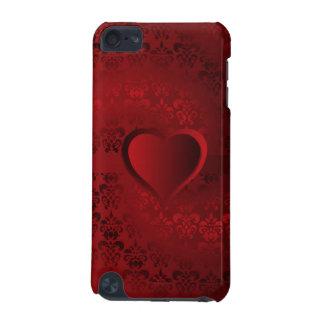 赤いダマスク織のハート iPod TOUCH 5G ケース
