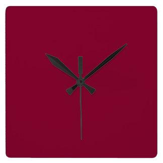 赤いダリアの煉瓦あずき色のバーガンディ2015色の傾向 スクエア壁時計