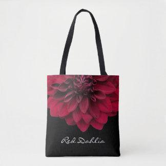赤いダリアの花の花屋の花 トートバッグ