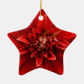 赤いダリアの花 セラミックオーナメント